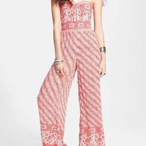 Free People Tube Top Wide Leg Jumpsuit